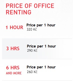 Price of office renting